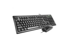 A4Tech Keyboard and Mouse set KM-720+OP-620D Multimedia, wired, Keyboard layout EN/LT