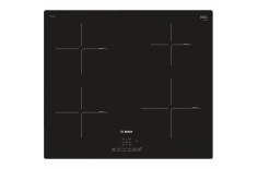 Bosch Hob PUE611BB2E Induction, Number of burners/cooking zones 4, Black, Timer