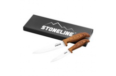 Stoneline Ceramic knifes 18334 Total length approx. 21 cm and 27 cm with blade protection, Material Ceramic, plastic, 2 pc(s),