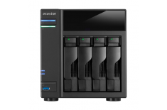 Asus Asustor Tower NAS AS6104T up to 4 HDD/SSD, Intel Celeron Dual-Core, Processor frequency 1.6 GHz, 2 GB, DDR3L, Black