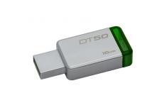 Kingston DataTraveler 50 16 GB, USB 3.0, Metal/Green