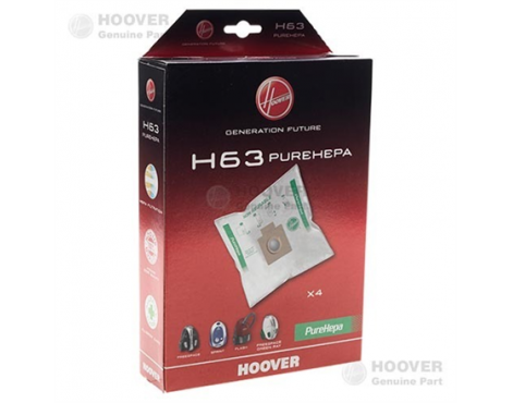 Hoover Purehepa H63 Vacuum cleaner bags, White