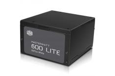 Cooler Master MasterWatt series, 600W, 120mm FAN, High efficiency 83%, Active PFC PSU, retail packing