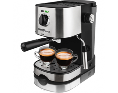 Scarlett Coffee maker SL-CM53001 Pump pressure 15 bar, Built-in milk frother, Semi-automatic, 850 W, Stainless steel/Black