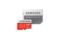Samsung EVO Plus UHS-I 64 GB, MicroSDXC, Flash memory class 10, SD Adapter