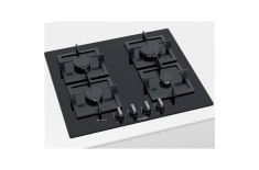 Bosch Hob PPP6A6B20 Gas on glass, Number of burners/cooking zones 4, Black,