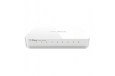 D-Link Switch DGS-1008A Unmanaged, Desktop, 1 Gbps (RJ-45) ports quantity 8, Power supply type Single