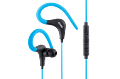 Acme Sport earphones HE17B 3.5 mm, Blue/Black, Built-in microphone