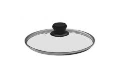 20 cm Stoneline Glass lid with stainless steel rim, dia 20cm, Transparent