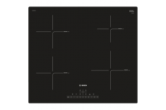 Bosch PUE611FB1E Hob Induction, Number of burners/cooking zones 4, Black, Display, Timer