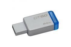 Kingston DataTraveler 50 64 GB, USB 3.0, Metal/Blue