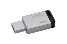 Kingston DataTraveler 50 128 GB, USB 3.0, Metal/Black