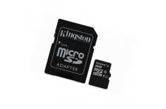 Kingston Industrial Temperature UHS-I U1 8 GB, MicroSDHC, Flash memory class 10, SD Adapter