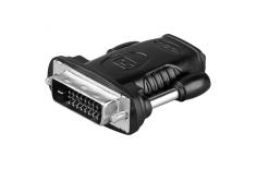 Goobay HDMI/DVI-D adaptor, nickel plated DVI-D male Dual-Link (24+1 pin), HDMI female (Type A)