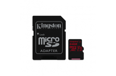 Kingston UHS-I Video Speed Class (V30) 64 GB, MicroSDXC, Flash memory class 10, SD adapter