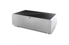 Caso Sound and Cool 00790 Sound and Cool Table with Soundbar and Beverage Cooler, White/ black